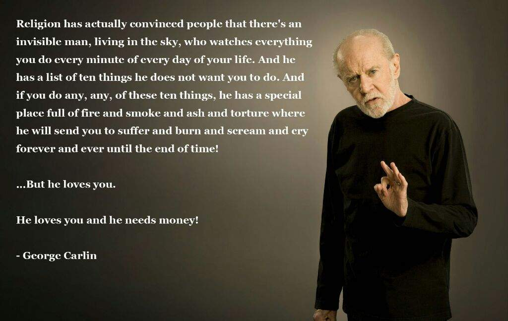 George Carlin Quotes Atheist Amino Amino Gorgeous George Carlin Quotes