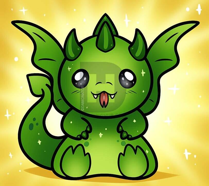 Como desenhar um Dragão kawaii (feito pelo: arte e cia ...