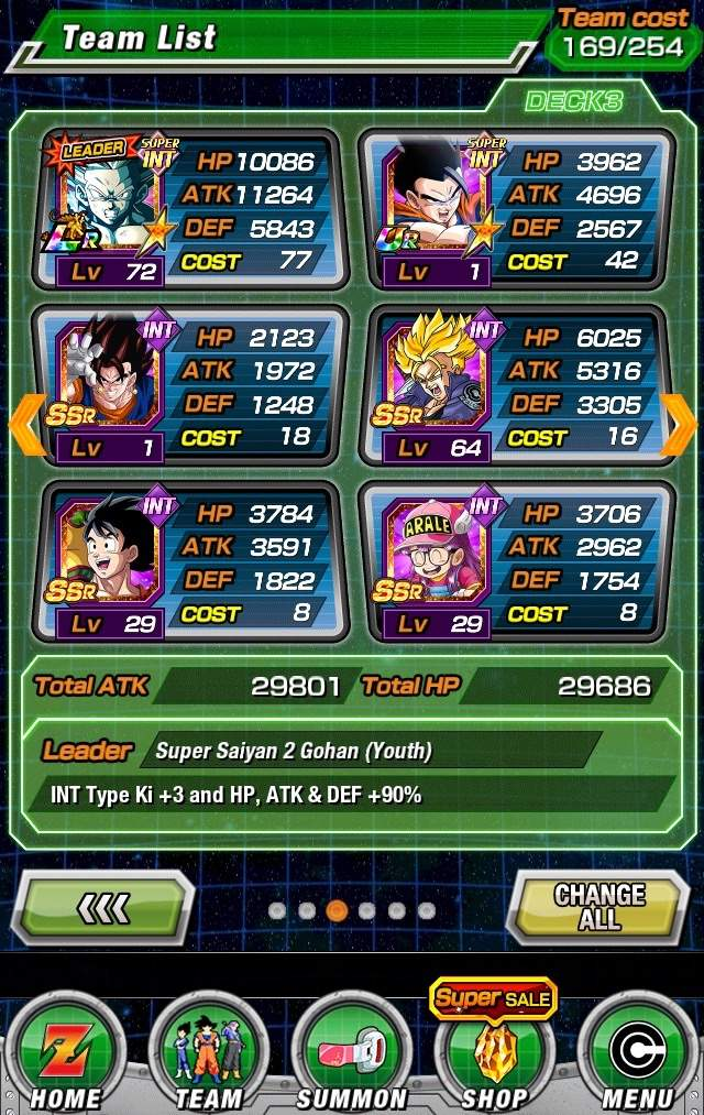 i know some of the units still need to be dokkan awakened but i dont know if i should replace some of the card with others these are all my int cards