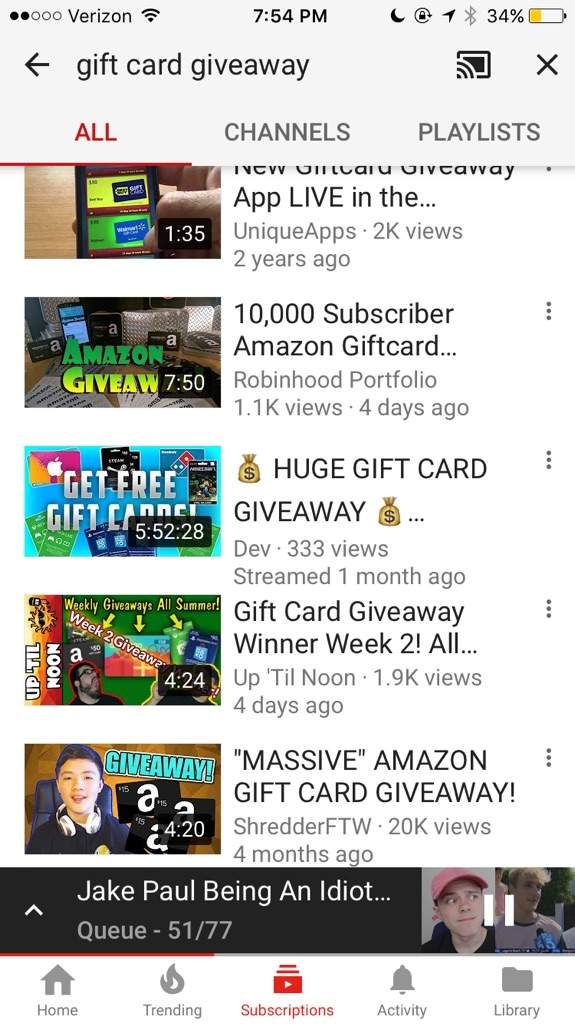 Do giveaways on youtube work out
