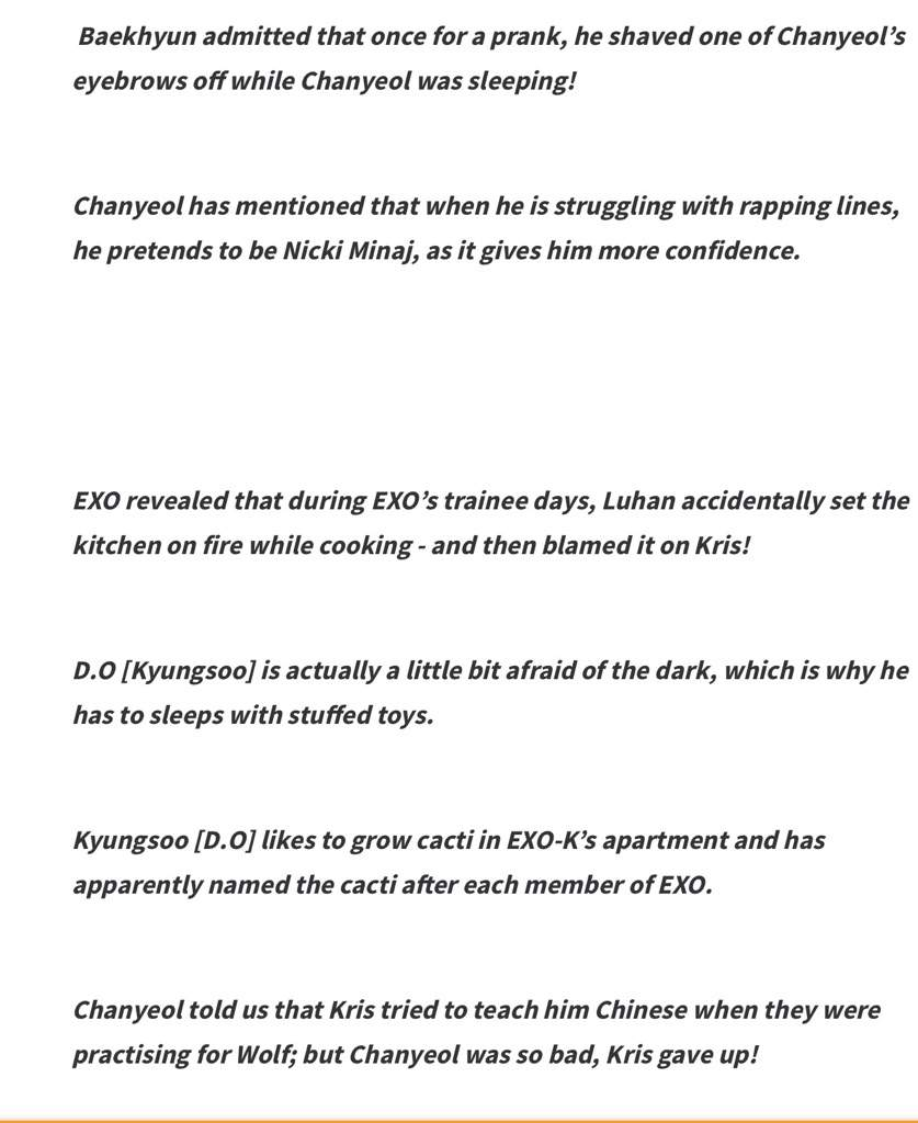 Random facts about EXO members💕 | EXO (엑소) Amino