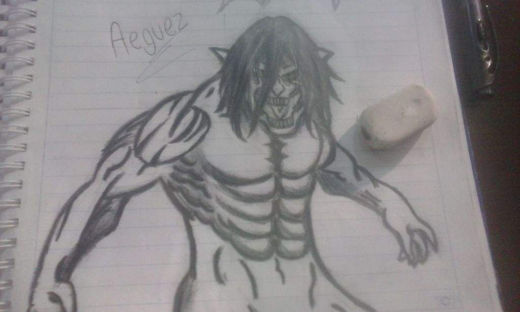 Mi Dibujo De Eren Titan Attack On Titan Amino
