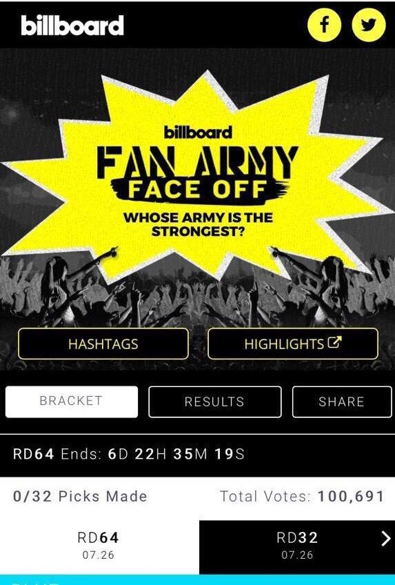 Update Vote For Bts Fan Army Face Off Army S Amino