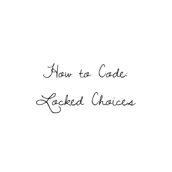 How to Code: Locked Choices | Episode: Choose Your Story Amino