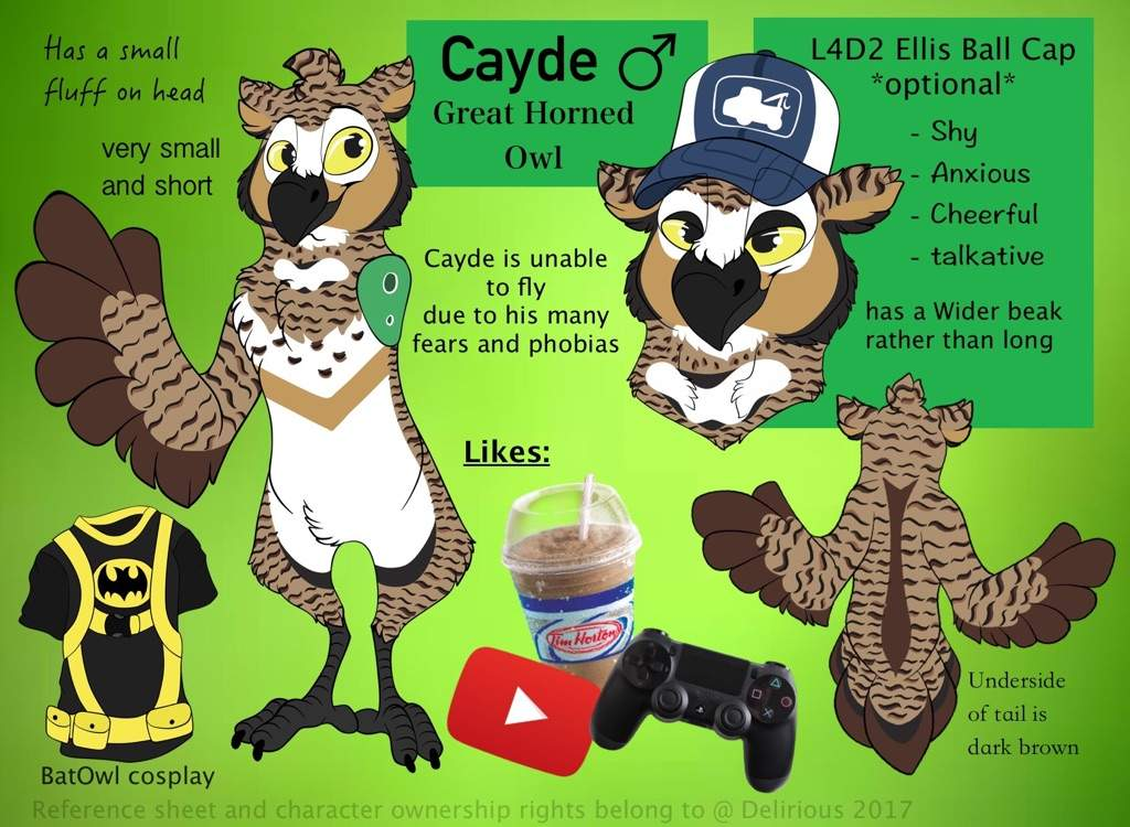 Cayde's Reference sheet   Furry Amino