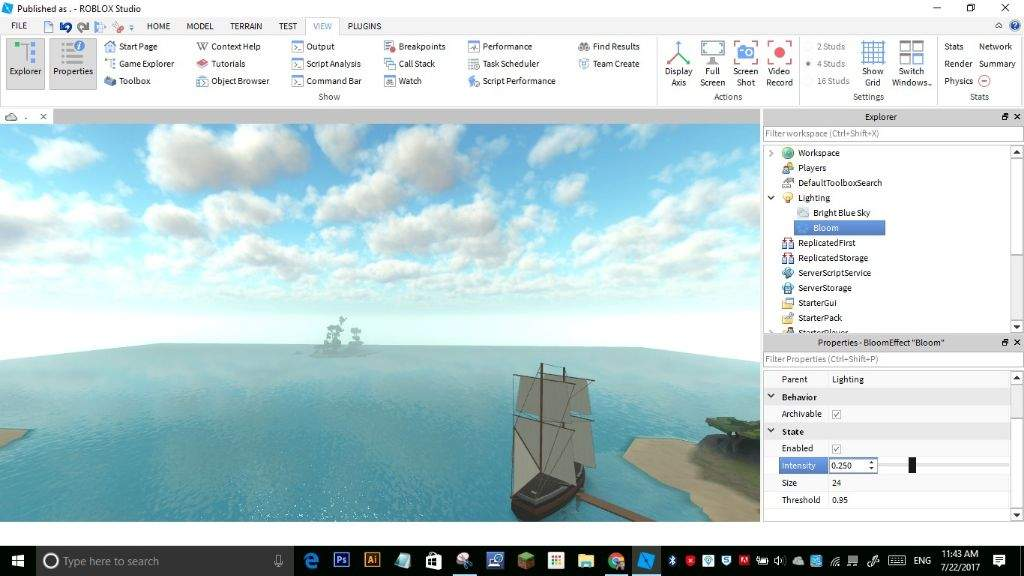 How To Make Graphics On Your Game Roblox Develop Roblox Amino - how to add better lighting to a roblox game