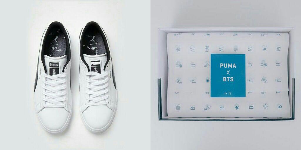 dbdb5441ea5 PUMA X BTS Court Star merupakan sneakers hasil kolaborasi yang dibuat  dengan partisipasi ide desain dari Bangtan.