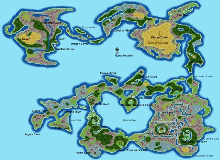 Final Fantasy 1 and 2 Maps | Video Games Amino