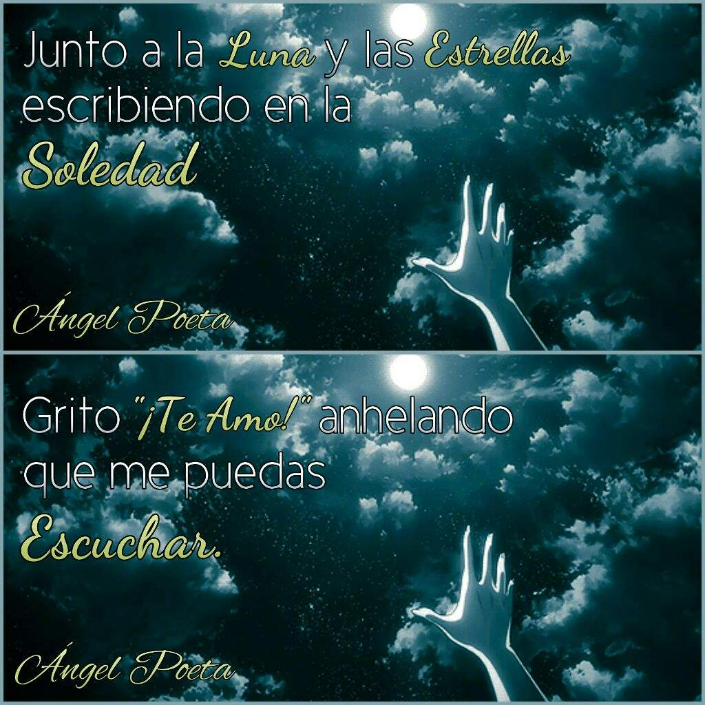 Junto A La Luna Y Las Estrellasfrase Anime Amino