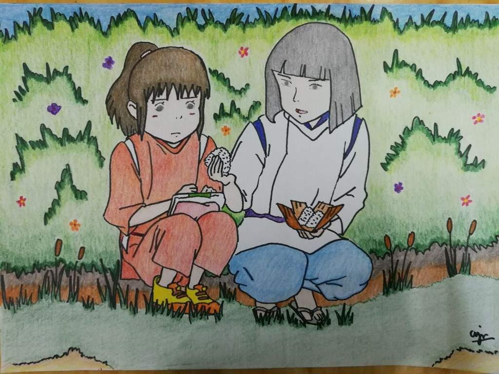 Drawing Of Chihiro Haku Spirited Away Studio Ghibli Amino