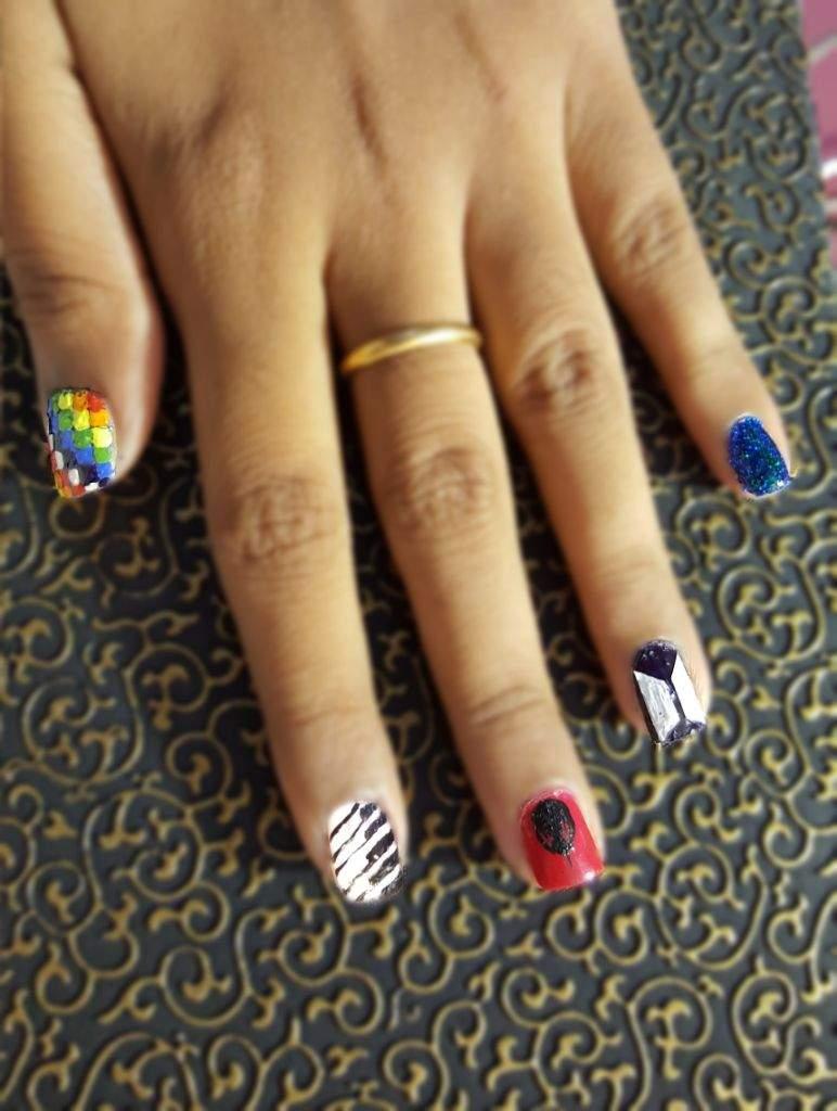 Nail art inspired by BTS | Park Jimin Amino