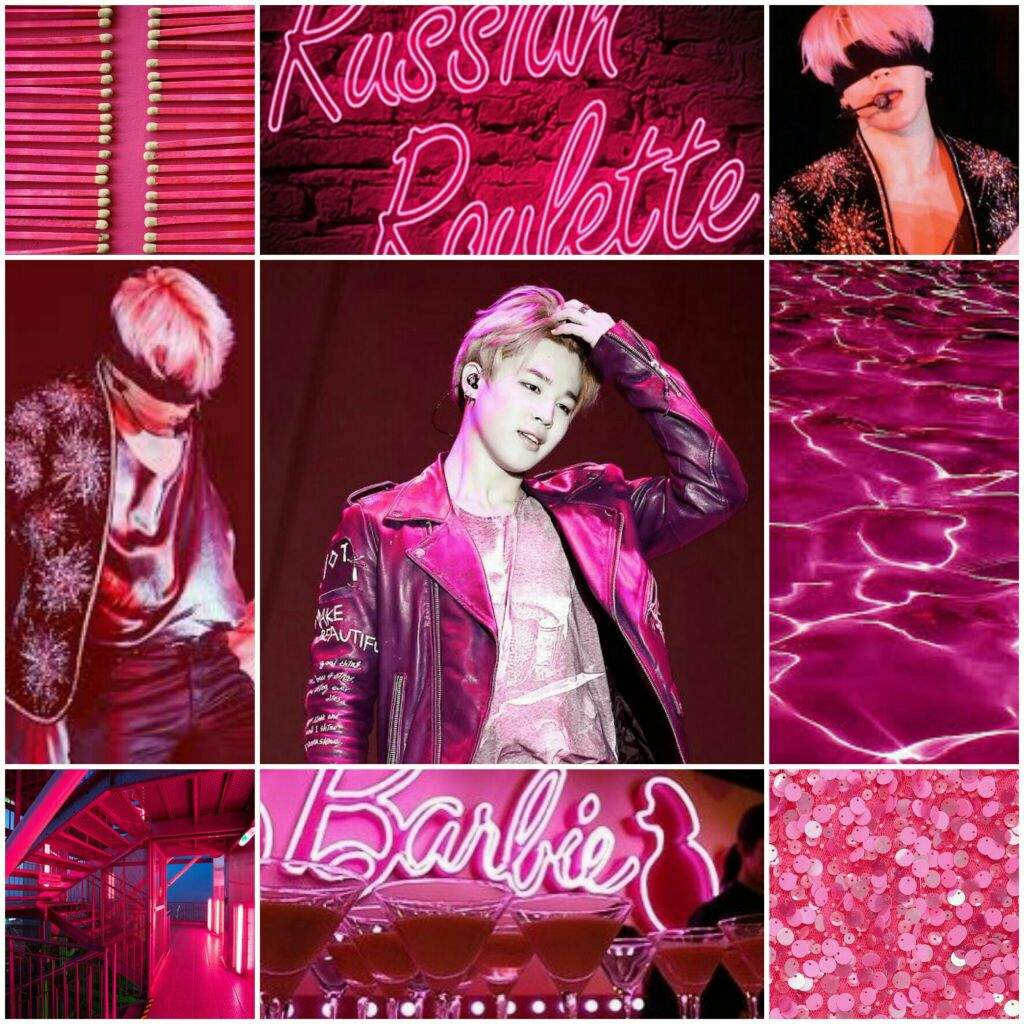 Jimin Hot Pink Aesthetic Mood Board Bts Army S Moodboards Amino