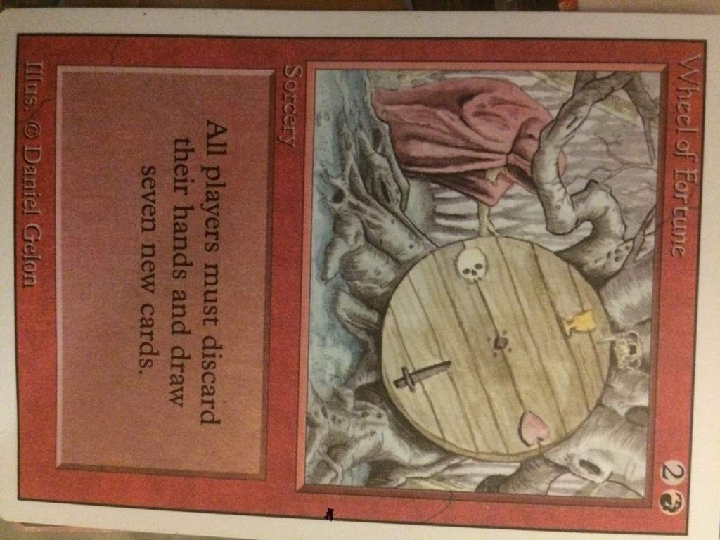 MTG 1x WHEEL OF FORTUNE Revised *Rare PLAYED*