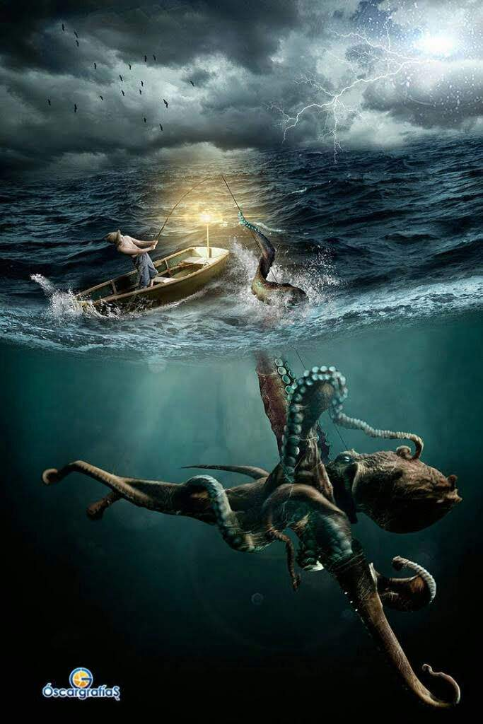 The Kraken Is A Giant Monster Often Described As Titanic Octopus And There Have Been Sightings Of This Creature For Centuries