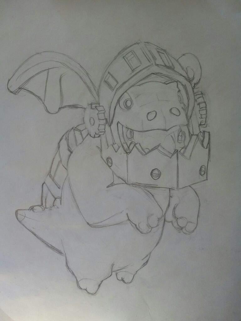 Dibujo De Dragón Infernal De Clash Royale Arte Amino Amino