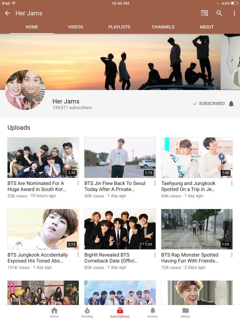 BTS YouTube Channels // Reviews • | ARMY's Amino