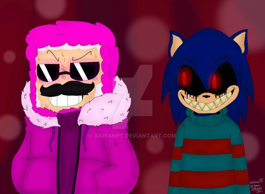 differentopic pink sheep and sonic exe me undertale amino