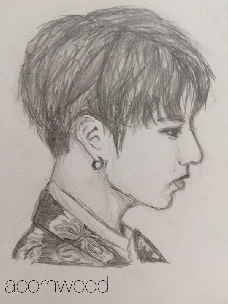 5 Pencil Drawings Of Bts S Jeon Jungkook K Pop Amino