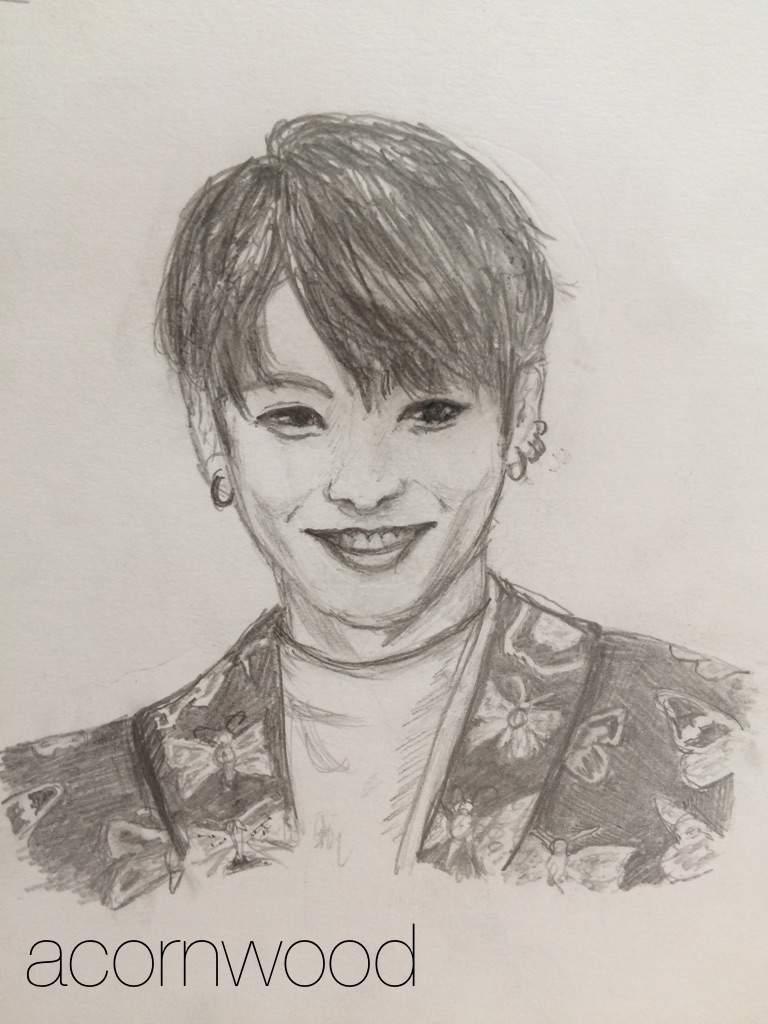 Jungkook Bts Drawings: 5 Pencil Drawings Of BTS's Jeon Jungkook...
