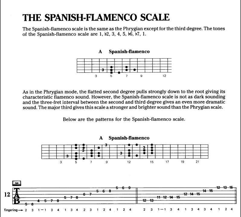 Cool Spanish flamenco scale | Guitar Amino