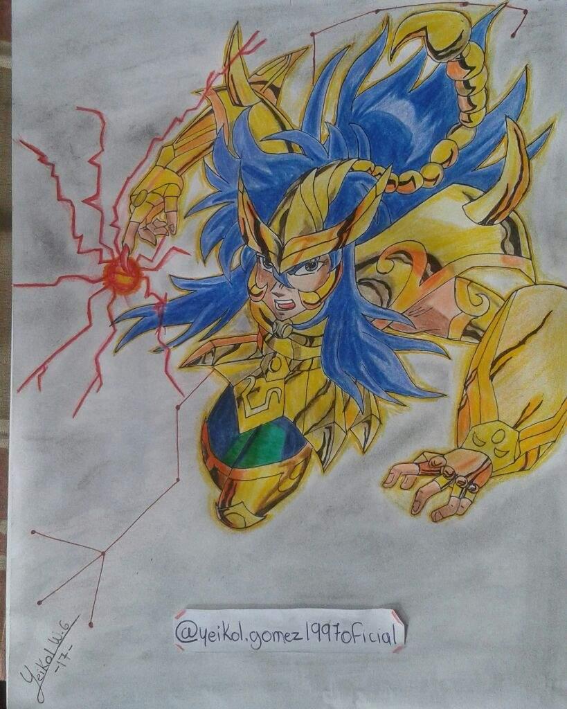 Dibujo De Un Escorpion Dorado el caballero dorado del escorpión celestial♏ | •arte amino
