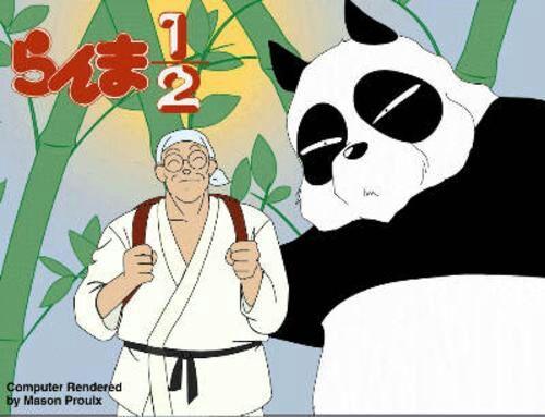 En Ocasiones Sobre Todo A Primeros De La Serie Mitad Superior Del Gi Genma Y Sus Gafas Tambien Permanecen El Cuando Se Convierte Un Oso Panda