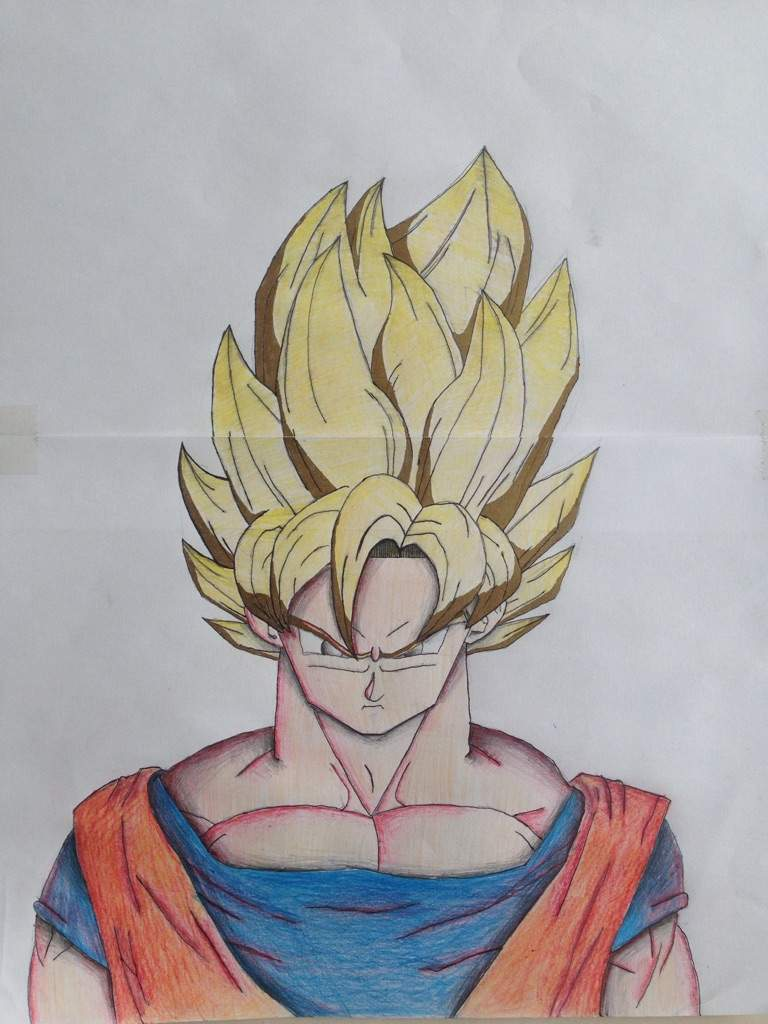 Goku ssj1 drawing anime amino