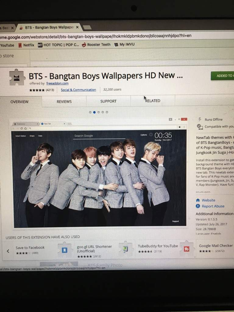 New BTS Chrome Extension