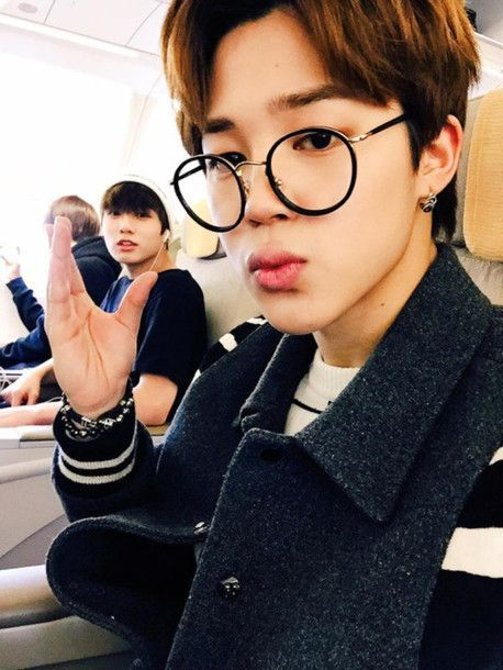 b5777a733d Jimin wore these glasses on several occasions.