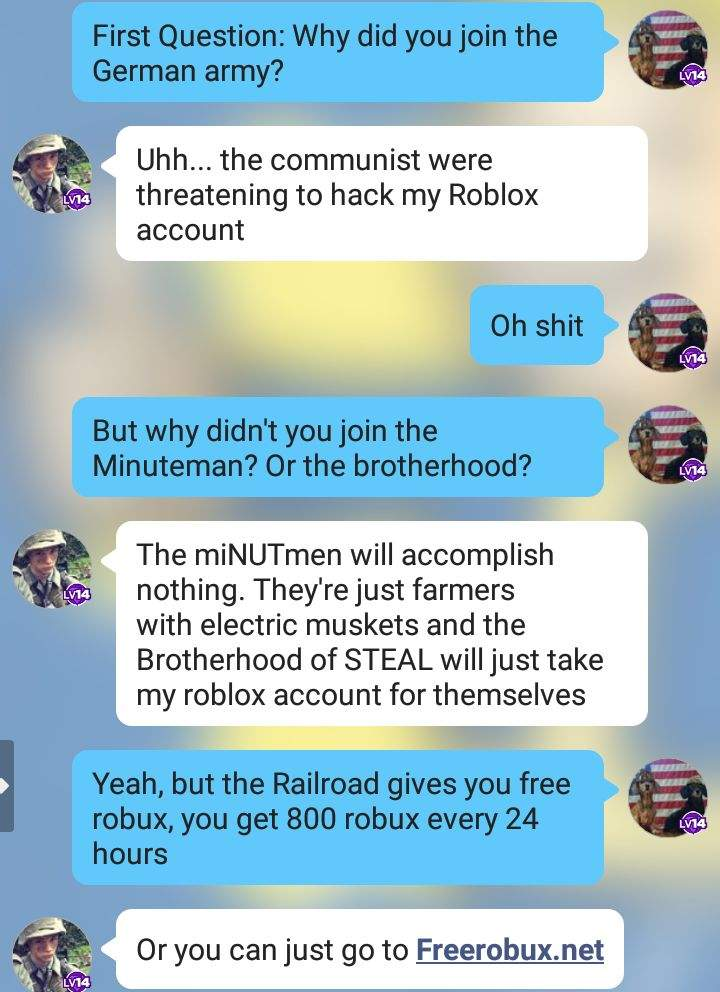 Fallout Amino Interviews German Roblox Player Fallout Amino