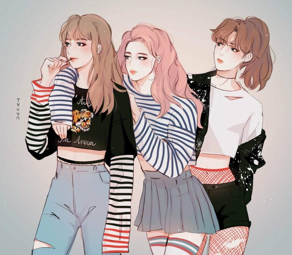 If V Jimin And Jungkook Were Girls Fan Drawing Army S Amino