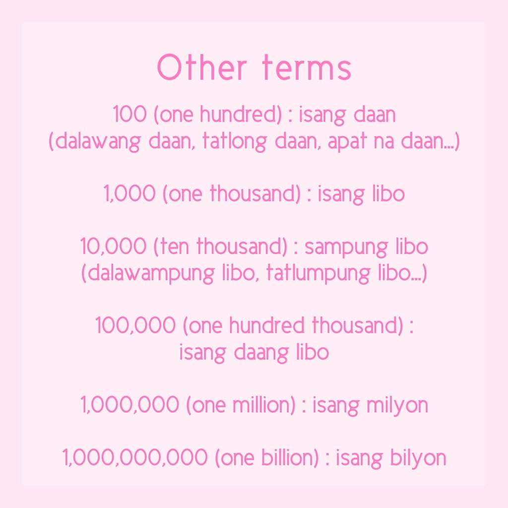 Filipino Lesson #4: Numbers & Counting   Learn Languages ...