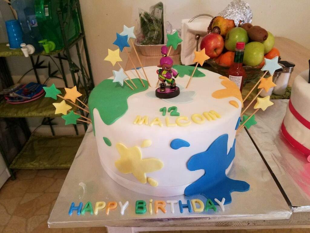 Splatoon  Birthday Cake