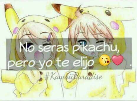 Imagen Dibujo De Pikachu Anime Con Frase De Amor Frases