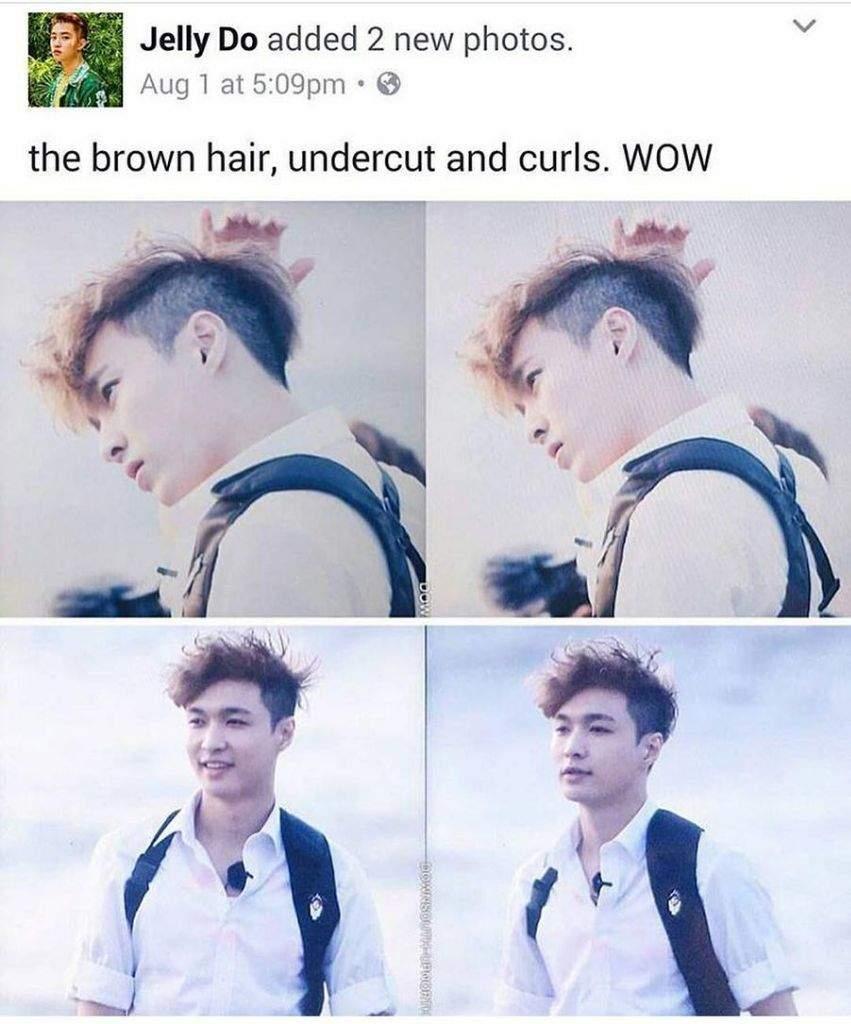 Lay S Undercut Curly Hair K Pop Amino