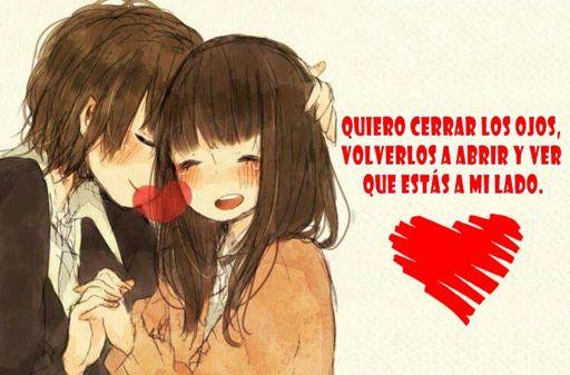 Imagen Dibujos De Anime De Amor Con Frases Románticas