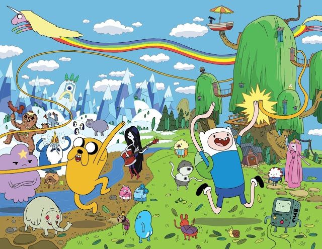 Adventure Time Candy Kingdom Background