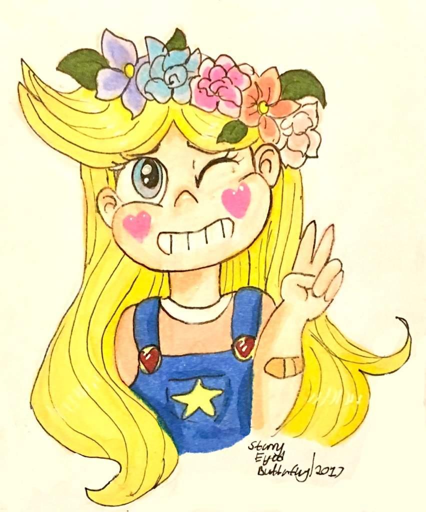 Flower Crown Star Cartoon Amino Vector image plantae series cartoon plants: flower crown star cartoon amino