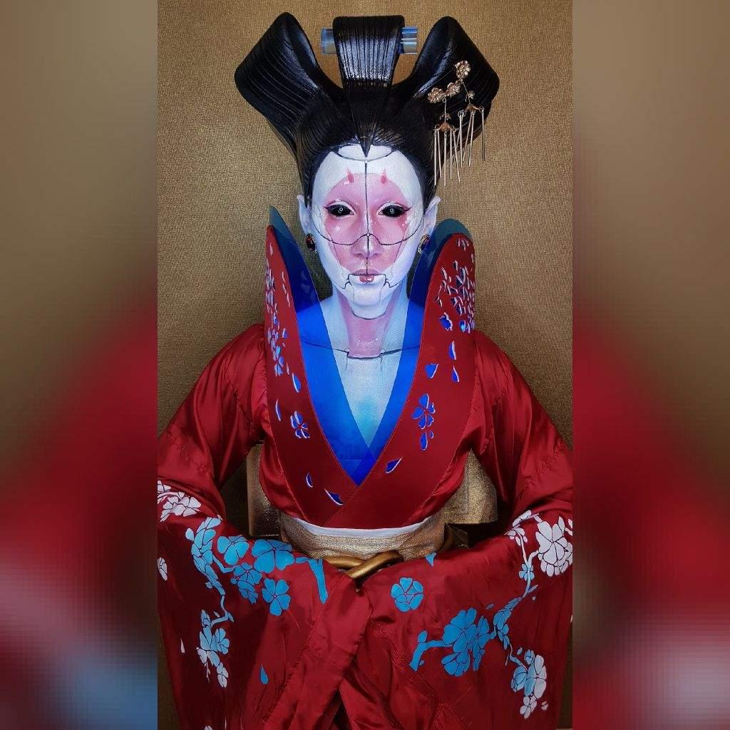 Geisha Robot Cosplay Finished Cosplay Amino
