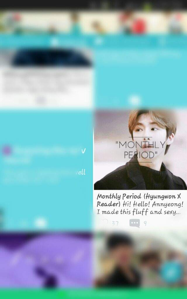 Monthly Period (Hyungwon X Reader) | MONBEBE Amino
