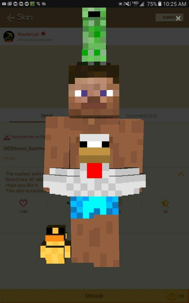 OMG Look At This Cool Skin I Found It On Mcpe Master For Credits - Skins para minecraft pe en 4d