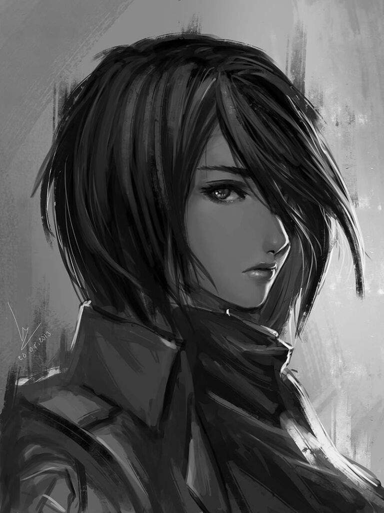 Painting mikasa ackerman anime amino - Sketch anime wallpaper ...