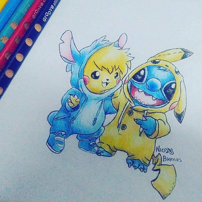 Pikachu Y Stich Arte Anime Amino Amino