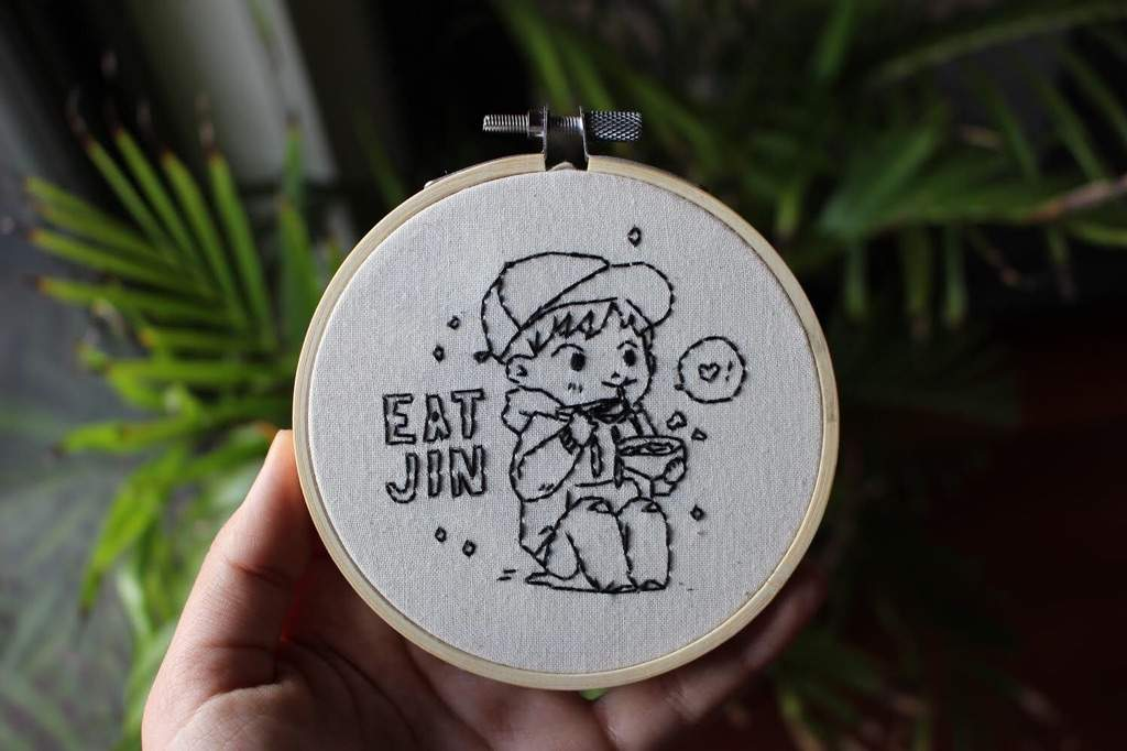 I Found This Cute Little Line Art From The BTS Colouring Book Project On Tumblr It Was Too Not To Embroider