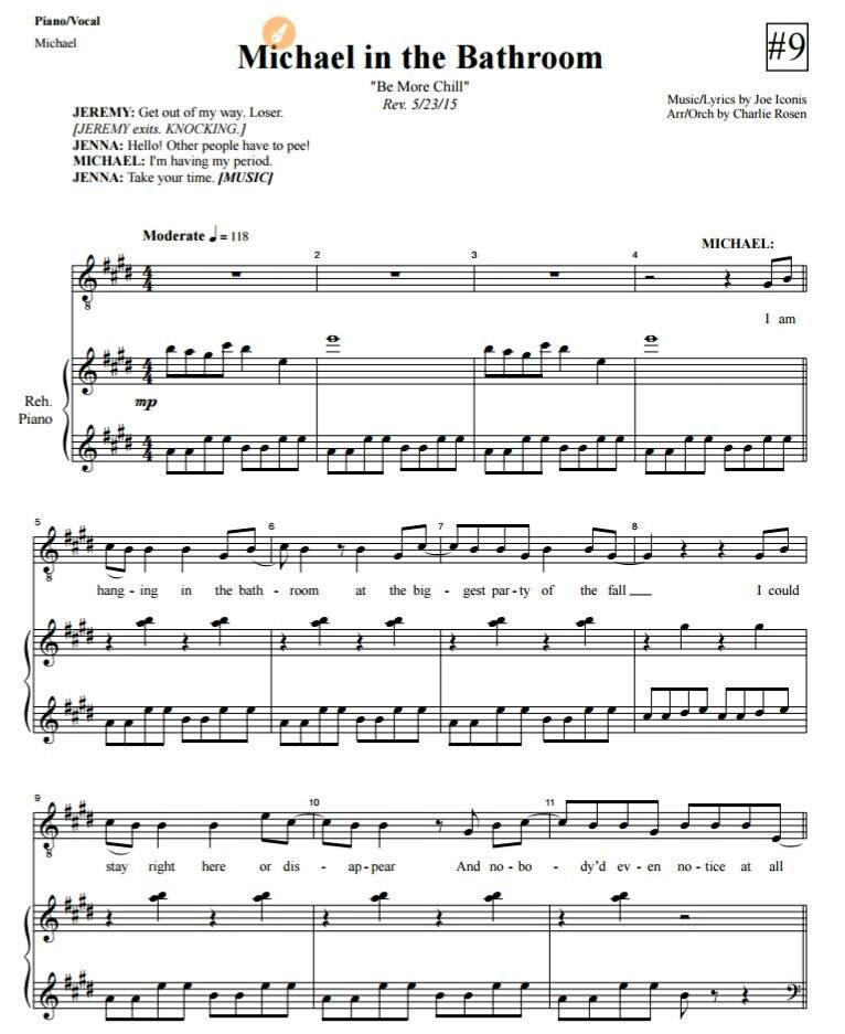 All Music Chords hello sheet music : I don't know if y'all can read sheet music, | Be More Chill! Amino