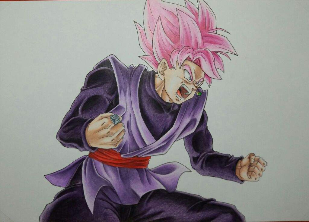 black goku ssj rose (lápices de color) | arte anime amino