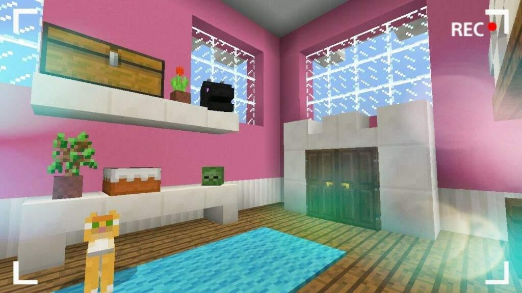 Girly Bedroom Design Minecraft Amino