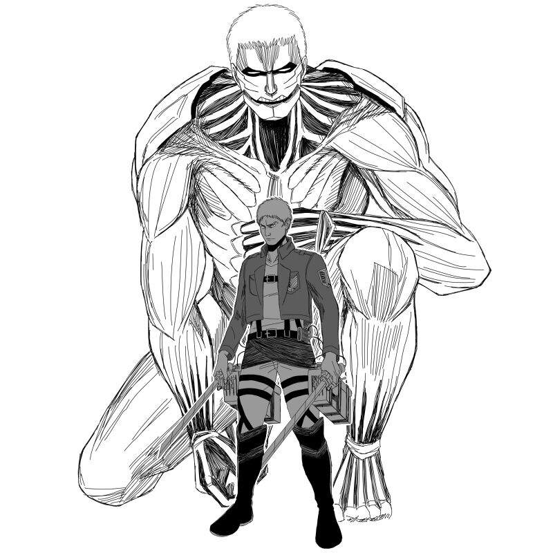 Картинки аниме атака титанов бронированный титан
