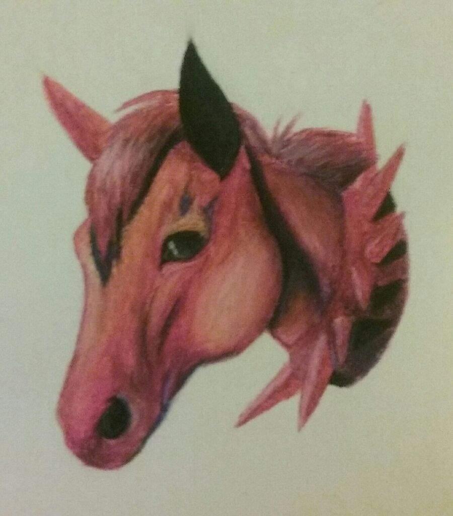 Oil Pastel Horse Art Aj Amino Amino