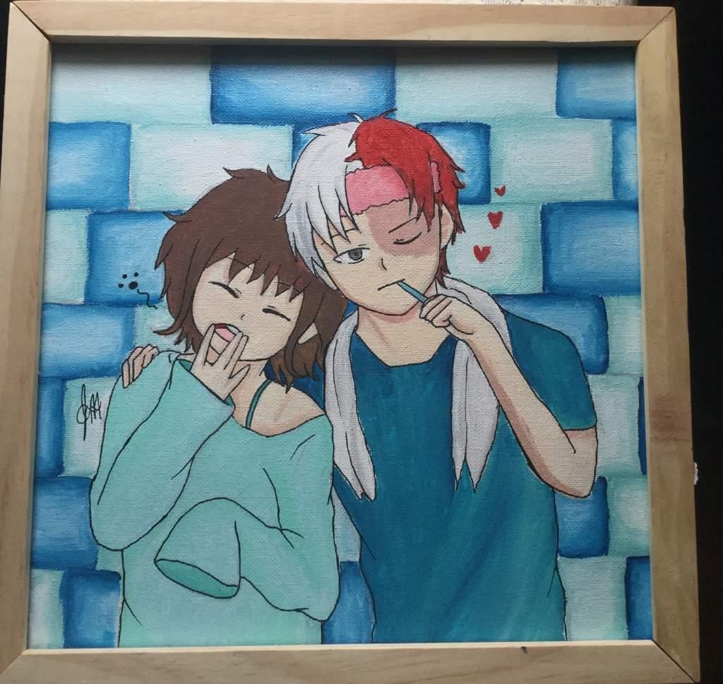 Oc X Todoroki Fan Art My Hero Academia Amino